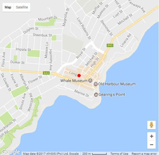 Map  TwentyFour 17 Inn in Hermanus  Overberg  Western Cape  South Africa
