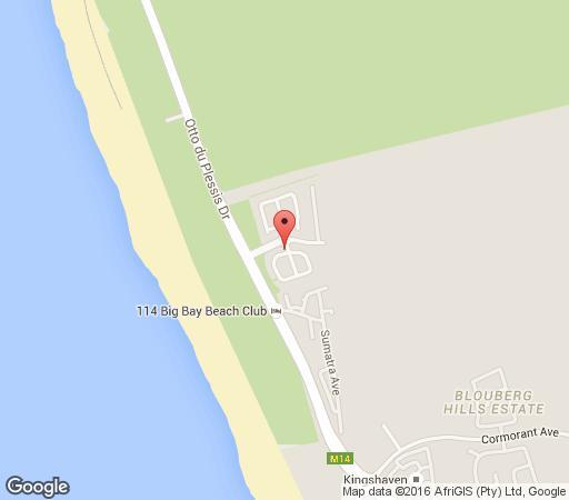 Map Santa Fé Beach House in Big Bay  Blaauwberg  Cape Town  Western Cape  South Africa