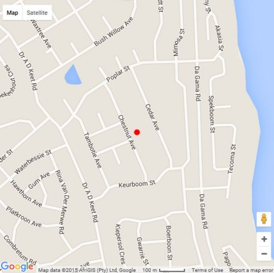 Map Sea Echo Accommodation in Jeffreys Bay  Cacadu (Sarah Baartman)  Eastern Cape  South Africa
