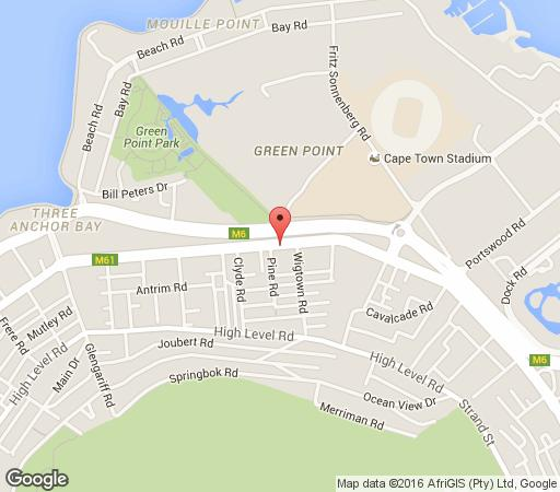 Map 5 The Apartment in Green Point  Atlantic Seaboard  Cape Town  Western Cape  South Africa