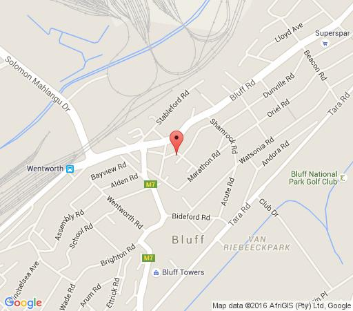 Map Hamelin Guest House in Bluff  Durban  Durban and Surrounds  KwaZulu Natal  South Africa