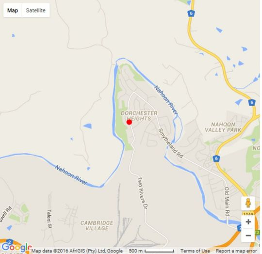 Map Skylink Holiday Accommodation in Nahoon  East London  Amatole  Eastern Cape  South Africa