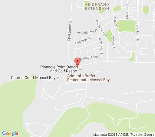 Map Lodge 119 Pinnacle Point in Mossel Bay  Garden Route  Western Cape  South Africa
