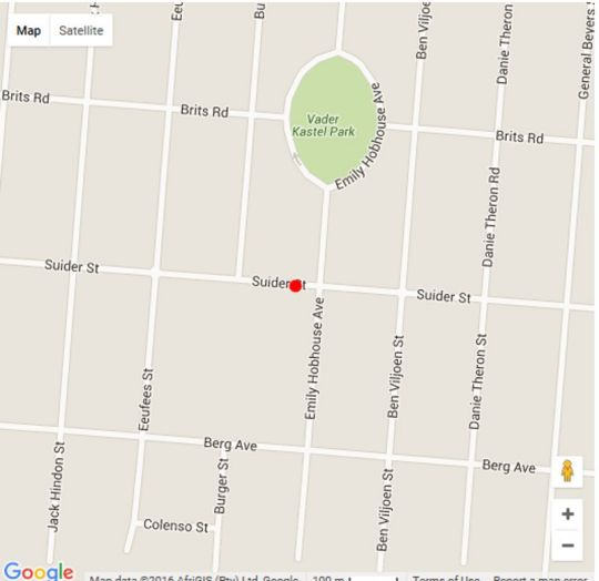 Map The Guest House Corp in Pretoria North Suburb  Pretoria North  Pretoria / Tshwane  Gauteng  Suid-Afrika