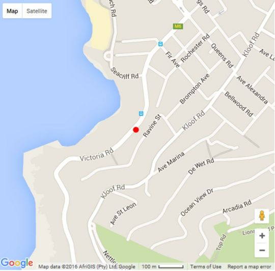Map Arcadia Villa in Bantry Bay  Atlantic Seaboard  Cape Town  Western Cape  South Africa