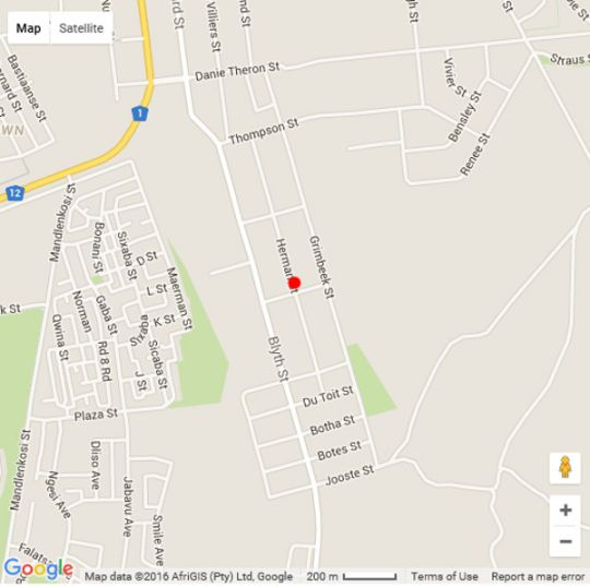 Map My Little Oasis in Beaufort West  Karoo  Western Cape  South Africa