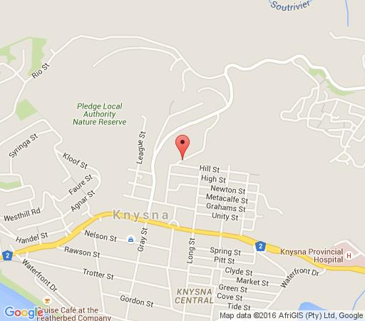 Map Madison Manor Boutique Hotel in Knysna  Garden Route  Western Cape  South Africa