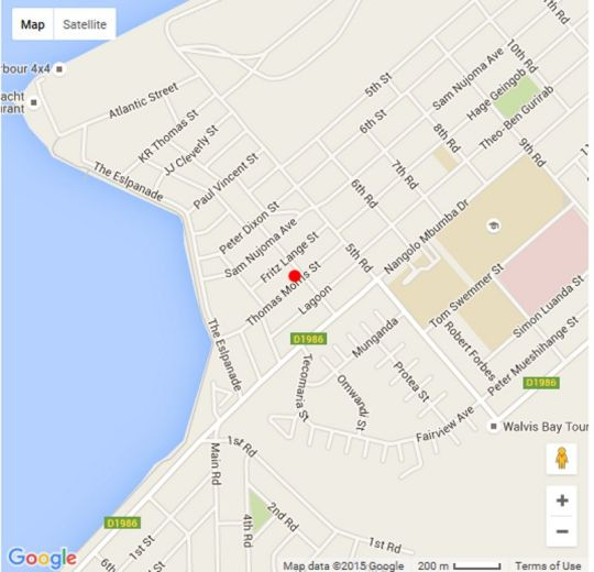 Map Fair Haven Guesthouse in Walvis Bay  Erongo  Namibia