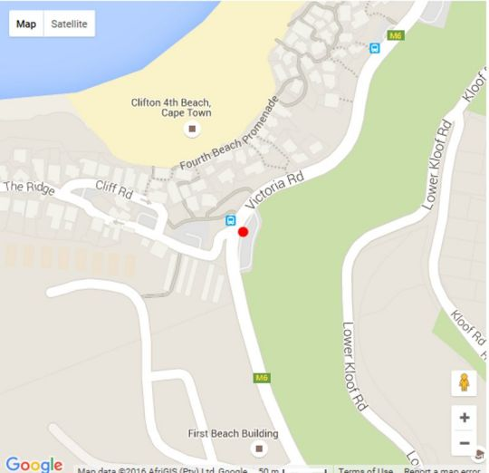 Map Sea Haven in Clifton  Atlantic Seaboard  Cape Town  Western Cape  South Africa
