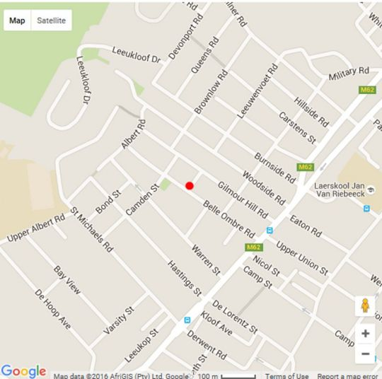 Map 10 Tamboershof in Tamboerskloof  City Bowl  Cape Town  Western Cape  South Africa