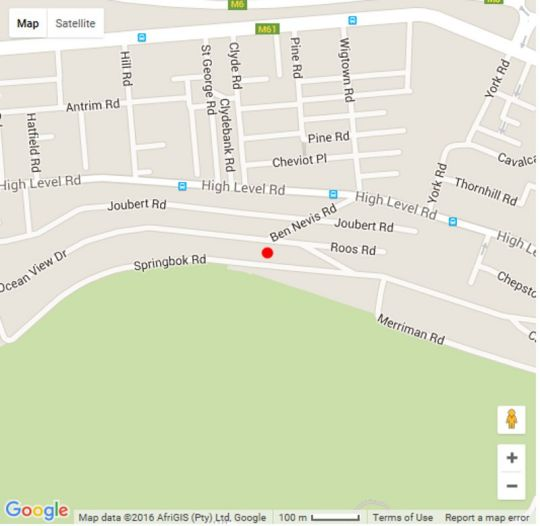 Map 16 Springbok Road in Green Point  Atlantic Seaboard  Cape Town  Western Cape  South Africa