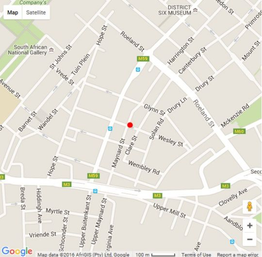 Map Casa Pesto in Gardens  City Bowl  Cape Town  Western Cape  South Africa