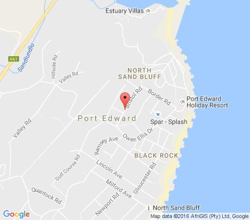 Map Suzy\'s Place in Port Edward  South Coast (KZN)  KwaZulu Natal  South Africa