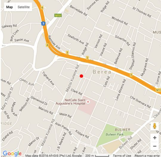 Map Tamarisk B&B in Glenwood  Durban  Durban and Surrounds  KwaZulu Natal  South Africa