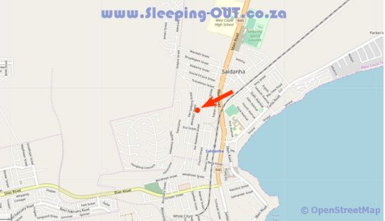 Map Vintour in Saldanha  West Coast (WC)  Western Cape  South Africa