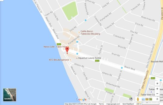 Map The Penthouse on Beach in Bloubergstrand  Blaauwberg  Cape Town  Western Cape  South Africa