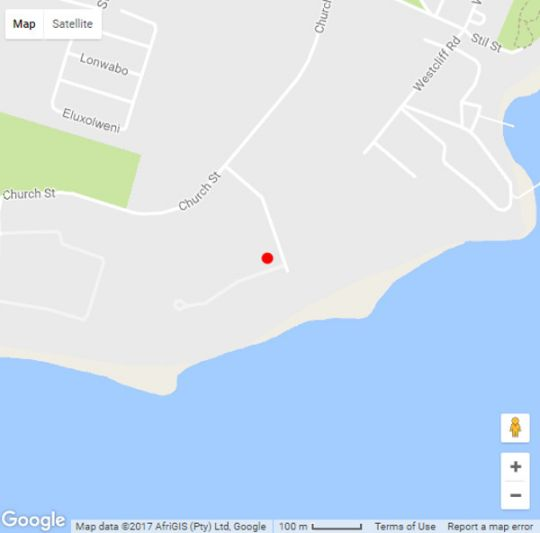 Map Ocean Edge Apartments in Hermanus  Overberg  Western Cape  South Africa