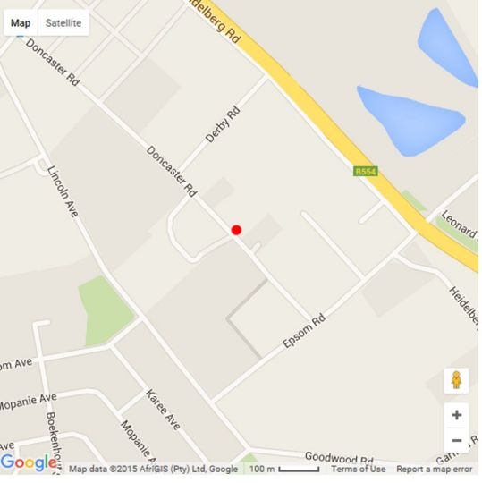 Map Sha-mani Lodge in Newmarket  Alberton  Ekurhuleni (East Rand)  Gauteng  South Africa