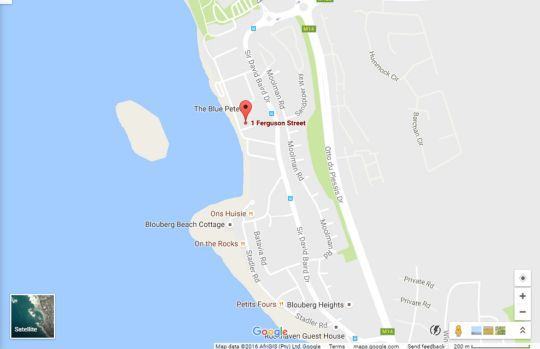 Map Santa Maria Beach House and Spa in Bloubergstrand  Blaauwberg  Cape Town  Western Cape  South Africa