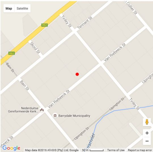 Map Tradouw Guesthouse in Barrydale  Overberg  Western Cape  South Africa