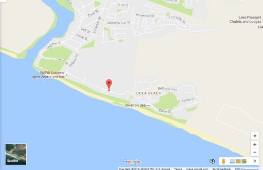 Map Afrovibe Beach House in Sedgefield  Garden Route  Western Cape  South Africa