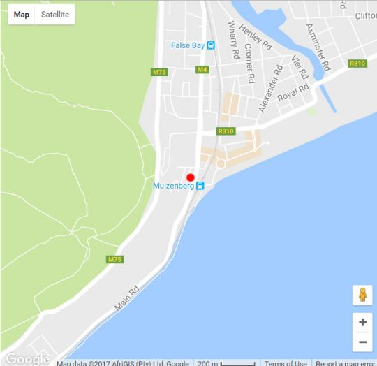 Map Ocean Vista Muizenberg in Muizenberg  False Bay  Cape Town  Western Cape  South Africa