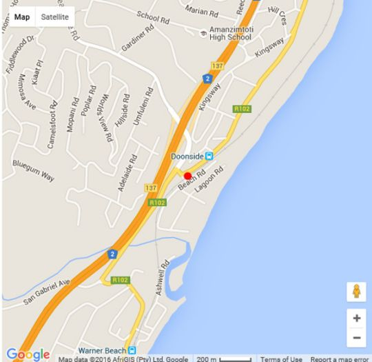Map 303 Amandonia in Doonside  South Coast (KZN)  KwaZulu Natal  South Africa