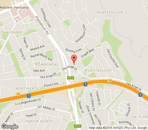 Map Acacia House in Plattekloof  Northern Suburbs (CPT)  Cape Town  Western Cape  South Africa