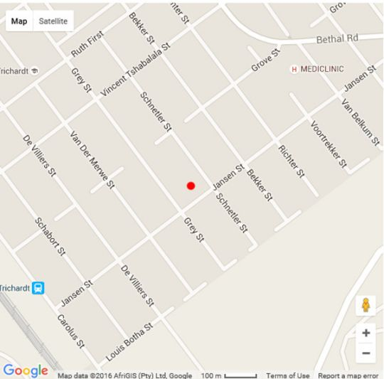 Map Dara Guest House in Secunda  Cosmos Country  Mpumalanga  South Africa