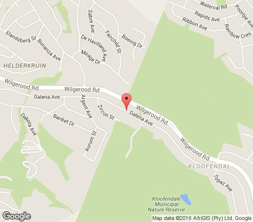 Map Kloofendal Guesthouse in Kloof en Dal  Roodepoort  West Rand  Gauteng  South Africa