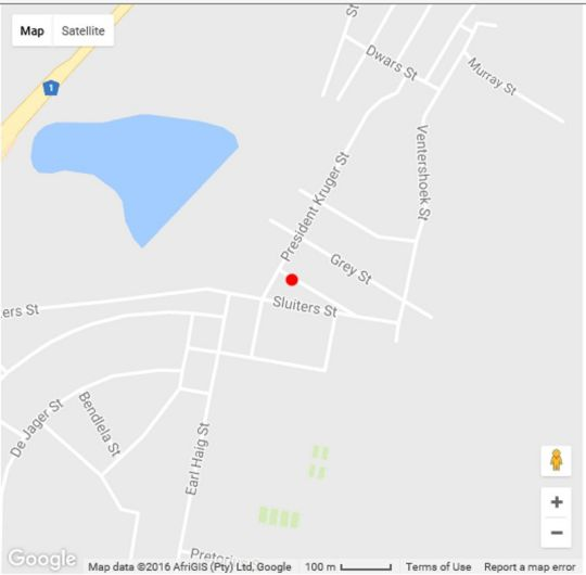 Map Ebenezer Guest House - Colesberg in Colesberg  Upper Karoo  Northern Cape  South Africa