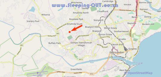 Map  Sleep Well BnB in Gonubie  East London  Amatole  Eastern Cape  South Africa