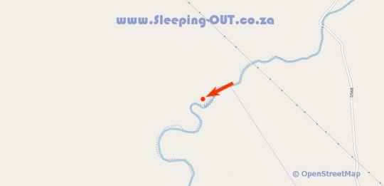 Map Waterhoek Valley Cottages in Mooi River  Midlands  KwaZulu Natal  South Africa