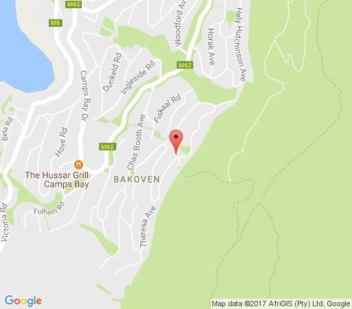 Map Sea Star Rocks in Camps Bay  Atlantic Seaboard  Cape Town  Western Cape  South Africa