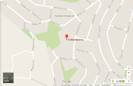 Map Boschdal Guesthouse and Conference Center in Rustenburg  Bojanala  North West  South Africa