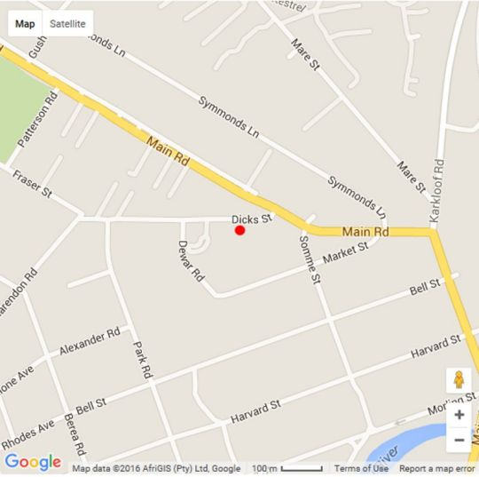 Map Nutmeg Guest House in Howick  Midlands  KwaZulu Natal  South Africa