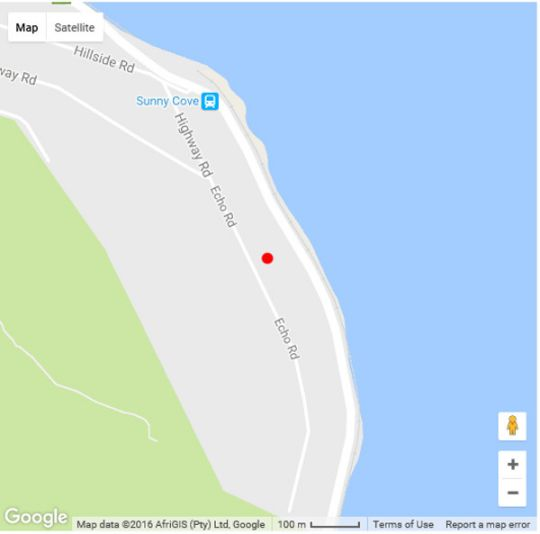 Map Cape-x-ta-sea in Fish Hoek  False Bay  Cape Town  Western Cape  South Africa