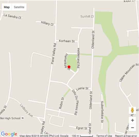 Map Self-Catering Keravic in Somerset West  Helderberg  Western Cape  South Africa