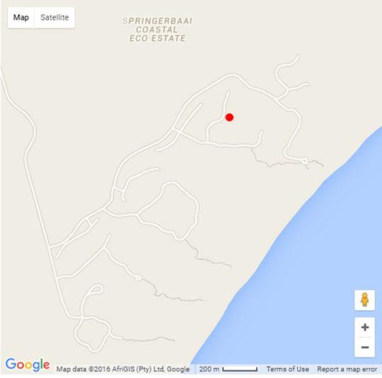 Map Utopia Springerbaai  in Mossel Bay  Garden Route  Western Cape  South Africa