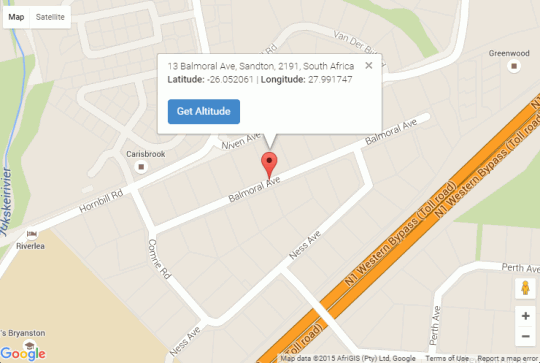 Map Tiree B&B in Bryanston  Sandton  Johannesburg  Gauteng  South Africa
