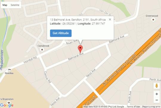 Map Tiree B&B in Bryanston  Sandton  Johannesburg  Gauteng  Südafrika