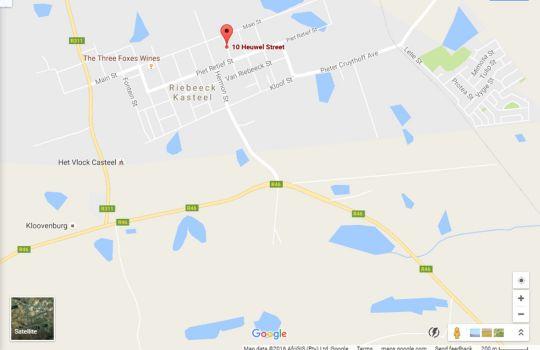 Map Olyfenhuis in Riebeek Kasteel  Cape Winelands  Western Cape  Südafrika