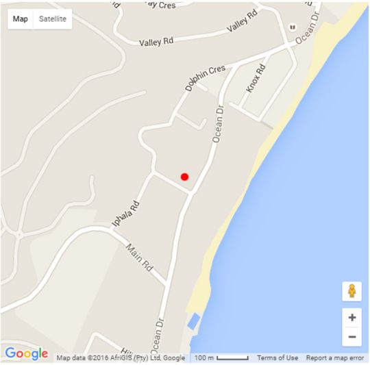 Map 1 Portofino in Shaka's Rock  North Coast (KZN)  KwaZulu Natal  South Africa