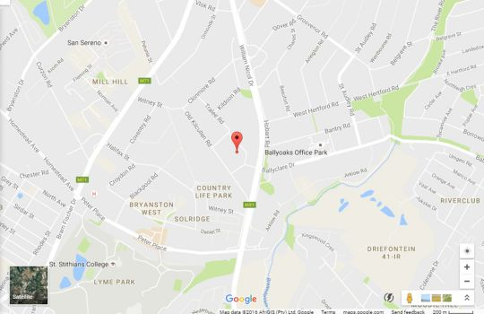 Map Annabel\'s of Bryanston Boutique Guest House in Bryanston  Sandton  Johannesburg  Gauteng  South Africa