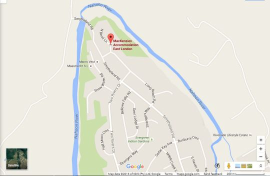 Map Mackenzies Accommodation in East London (Central)  East London  Amatole  Eastern Cape  Zuid-Afrika
