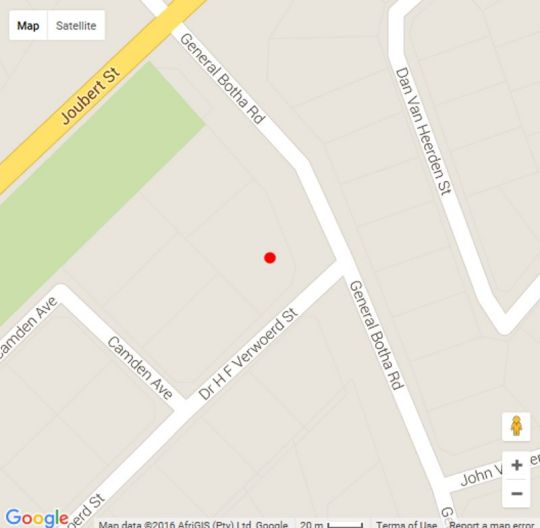 Map Elna\'s Guest House in Ermelo  Wetlands  Mpumalanga  South Africa