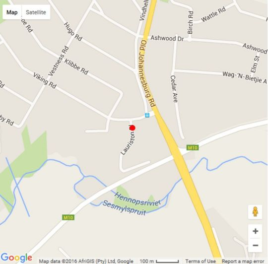 Map Lauriston Guesthouse in Eldoraigne  Centurion  Pretoria / Tshwane  Gauteng  South Africa