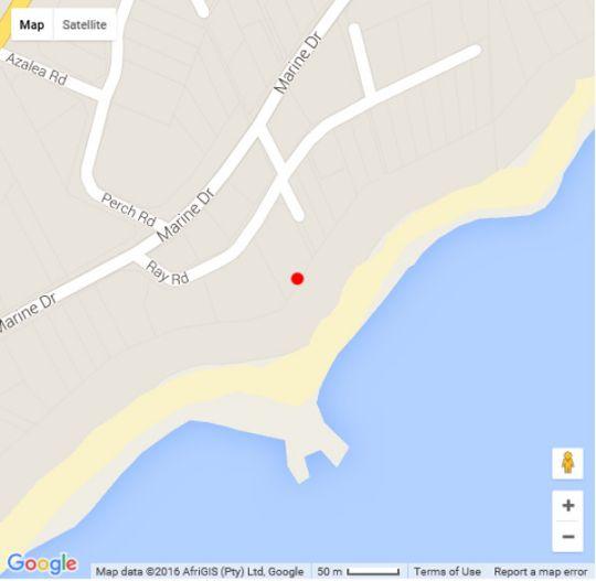 Map Calamari 10 in Ramsgate  South Coast (KZN)  KwaZulu Natal  South Africa