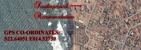 Map Swakopmund Accommodation in Swakopmund  Erongo  Namibia