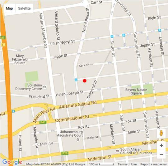Map 1402 The Franklin in Newtown  Northcliff/Rosebank  Johannesburg  Gauteng  South Africa